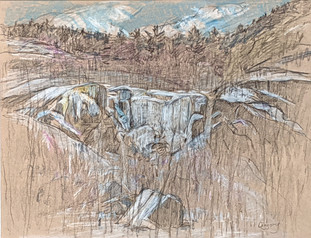Anne Diggory Winter Cascade 8 3_8 x10 1_2 mixed media on paper 2020 $600.jpg