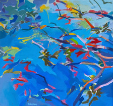 Sol Zaretsky, Cranberry Lake, Acrylic, 34 x 36,.jpg