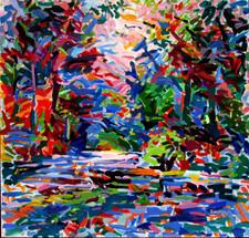 Sol Zaretsky, Sun Dazzle, Acrylic, 2006, 40 x 42,.jpg