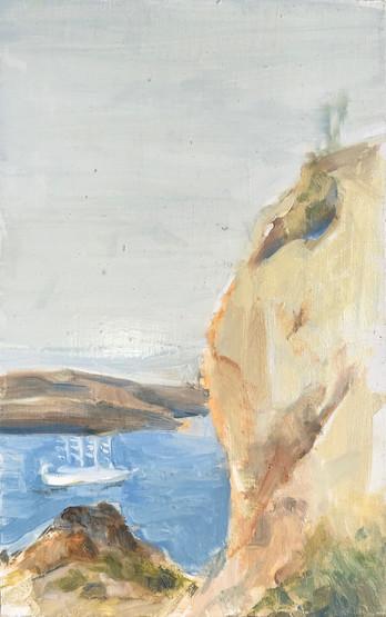 11 Marcia Clark, The Ship, 2019,oil on aluminum, 8x5in.jpg