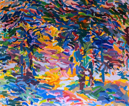 Sol Zaretsky, Trees with Opening, Acrylic, 2007, 50 x 60,.jpg