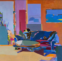 Sol Zaretsky, Couch and Coffee Table, Acrylic,  2014, 24 x 24,.jpg