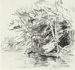 Anne Diggory Sunlit Shore 11 1_4x11 5_8 watercolor 2021 $600.jpg