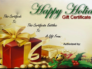 Healthy & Fit Gift Certificates