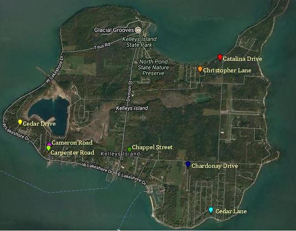 Kelleys Island Street Maps