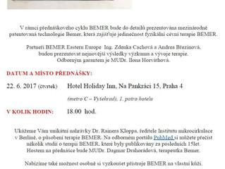 Mimořádná přednáška v Praze!