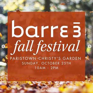 Barre 3 Fall Festival