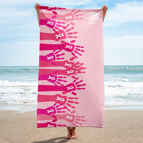 Helping Hands Breast Cancer Beach Towel