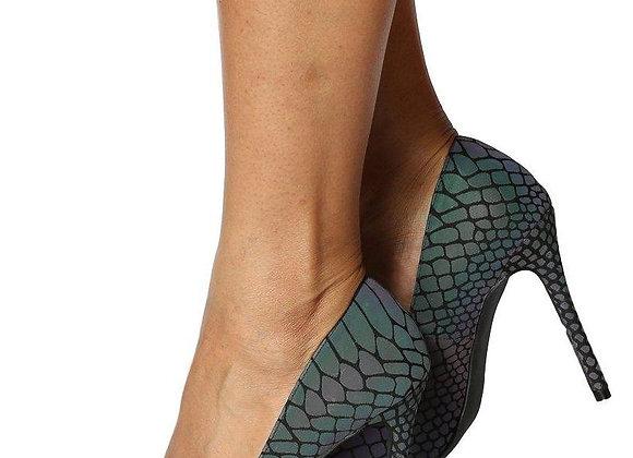 Tabana02 Black Snake Glow In The Dark Women's Heel