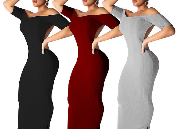 One Piece Backless Long BodyCon Dress