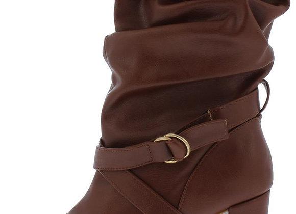 Daystar01s Chestnut Slouch Dual Buckle Boot