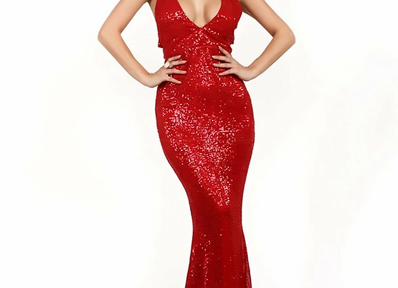 Missord Backless Double Strap Sequin Bodycon Prom Dress