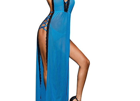 Sexy Long Transparent Women Night Gown
