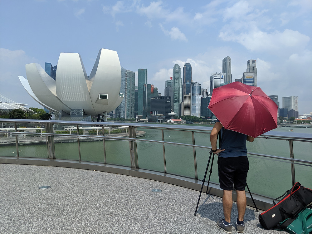 Mandolin Media, video production agency in Bangkok, Thailand, filming a time lapse on location.