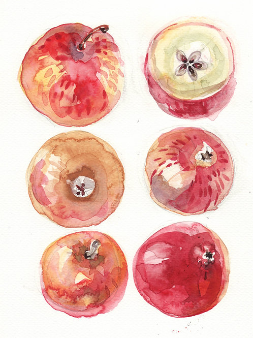 Six keeping apples