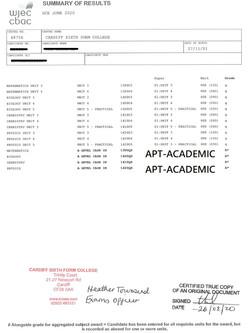 篇幅所限,只顯示近5年來部份學生成績