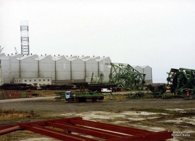 Kingston 1992 Slipway cranes removal