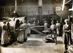 Women working on tubing condensers for steam engines in the Arthur Street works
