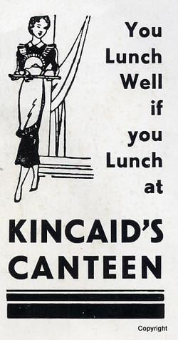 Kincaids Canteen Advert