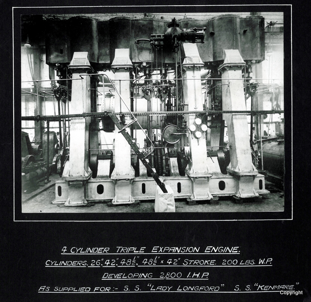 4 Cylinder Triple Expansion Engine SS Kenmare