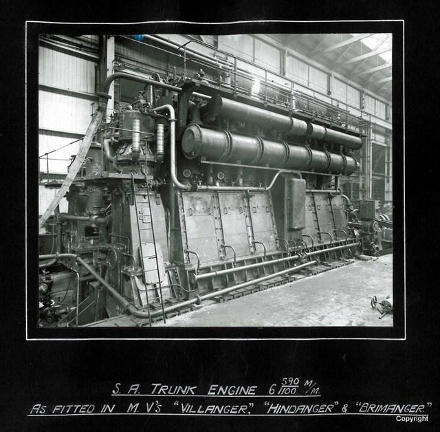 SA Trunk Engine as fitted in MVs Villanger Hindanger & Brimanger
