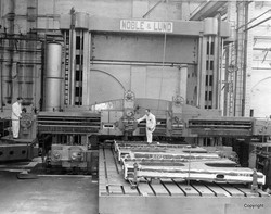 East Hamilton St. J Shop Noble and Lund machining frames  in 1952