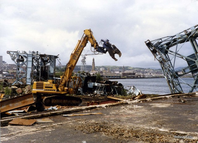 Scotts Cartsburn 1988 demolition work