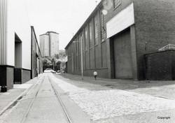 Kincaids Arthur St March 1989 Boiler shop turning shop on left engine bedplate shop on right