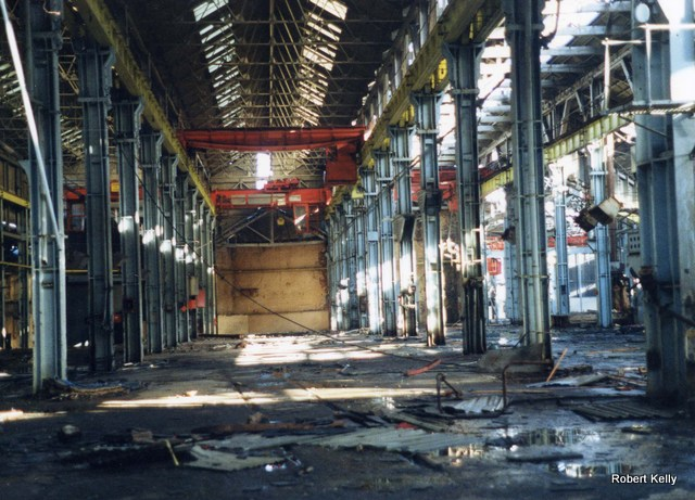 Kincaids Arthur St March 1989 Boiler shop machinery removed