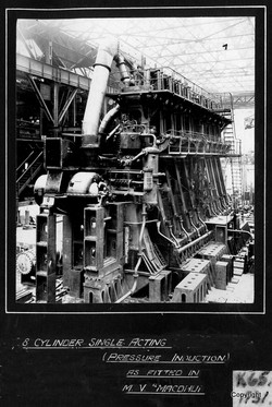 8 Cylinder Single Acting Diesel Engines MV Macdhui