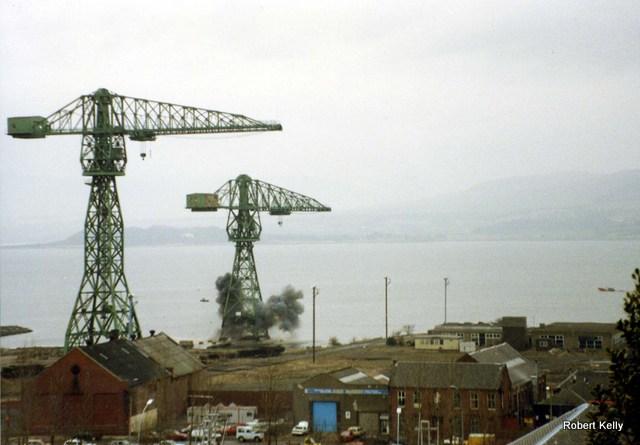 Kingston 1992 Slipway cranes demolition