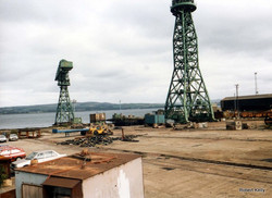 Kingston 1990 slipway and cranes
