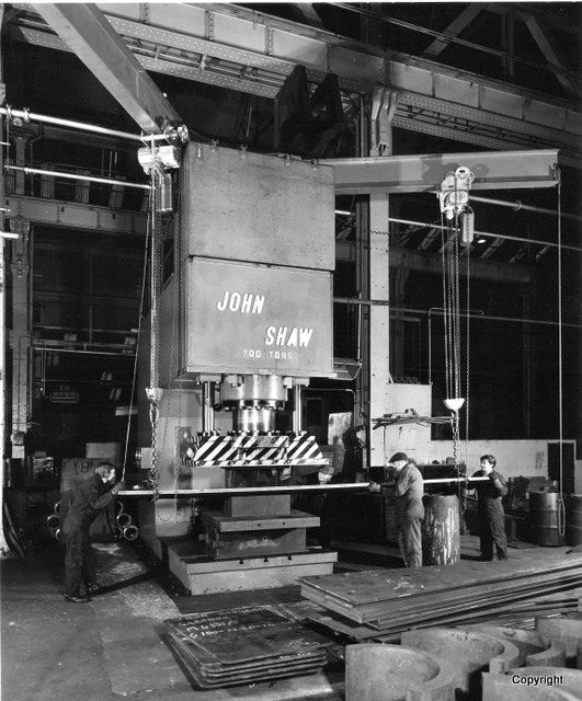 Arthur Street Boiler shop press