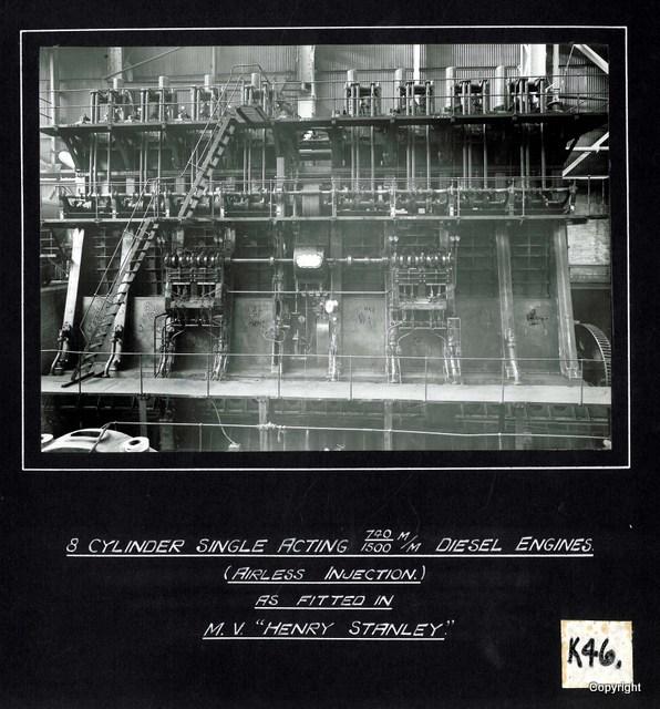 8 Cylinder Single Acting Diesel Engine MV Henry Stanley