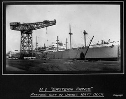 MV Eastern Prince Fitting Out in James Watt Dock