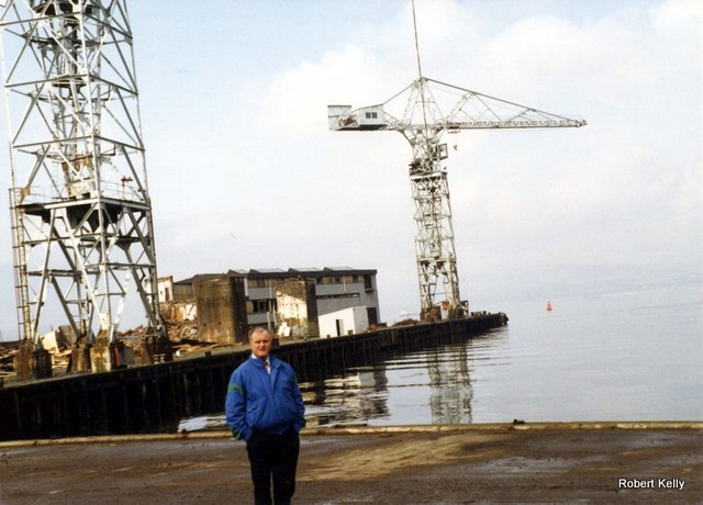Robert Kelly at fitting out basin Scotts