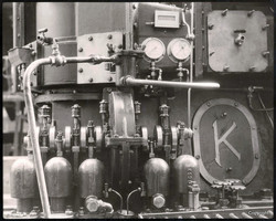 The only diesel engine designed and built by Kincaids. Engine fitted for the mv KINDIESEL. built by