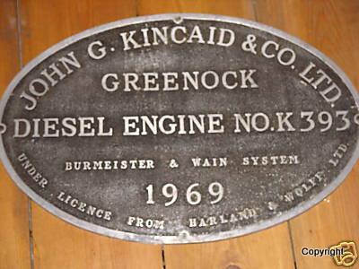 Kincaid plate engine no K393 1969