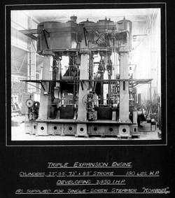 Triple Expansion Engine for SS Korana by Kincaids