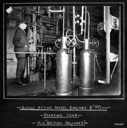 Single Acting Diesel Engine British Reliance