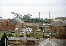 Kingston 1992 Slipway cranes demolished