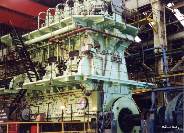 Kincaids East Hamilton St 1992 last marine engine Sulzer