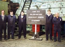 Kincaids East Hamilton St 1992 last marine engine with Engine Fitters