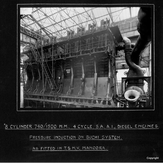 8 cylinder Disel Engines MV Manoora
