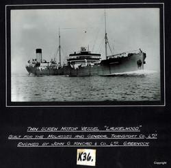 Twin Screw MV Laurelwood engined by Kincaids