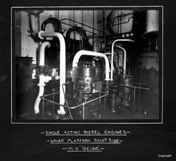 Single Acting Diesel Engines Lower Platform MV Deido