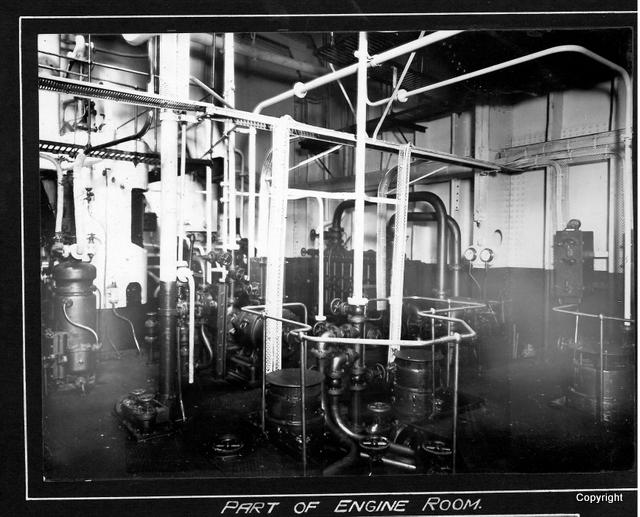 Part of engine room MV Winton