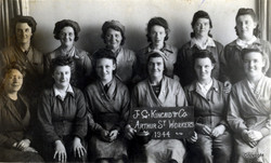 Kincaids Arthur St women workers 1944 Mrs Stewarts mother Mrs Compston 2nd right back