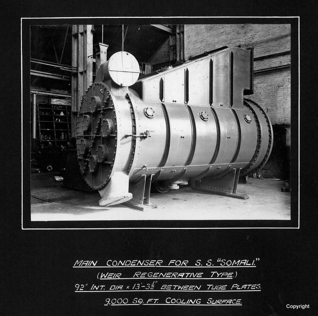 Main Condenser for SS Somali