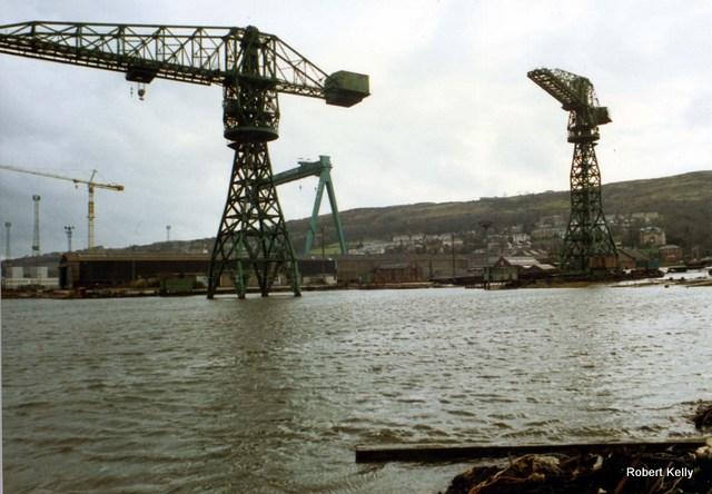 Kingston 1992 Slipway cranes